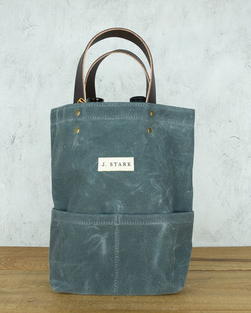J. Stark Wine Tote - Charcoal Canvas