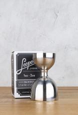 Cocktail Kingdom Leopold Jigger 1oz / 2oz