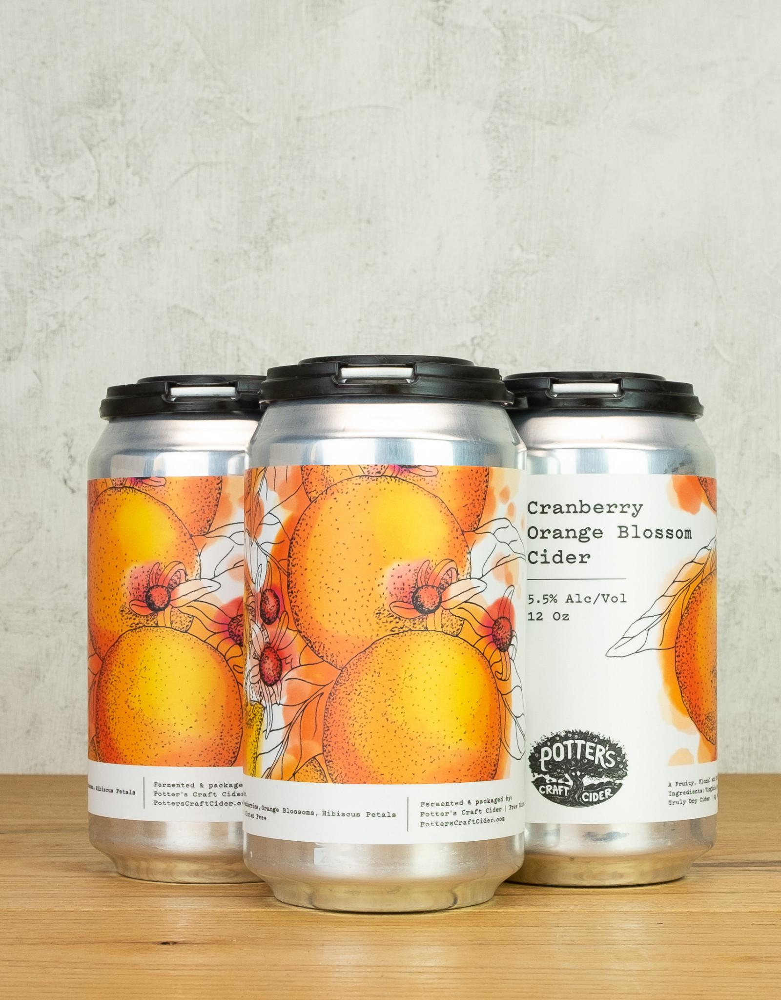 Potter's Cider Cranberry Orange Blossom 4pk