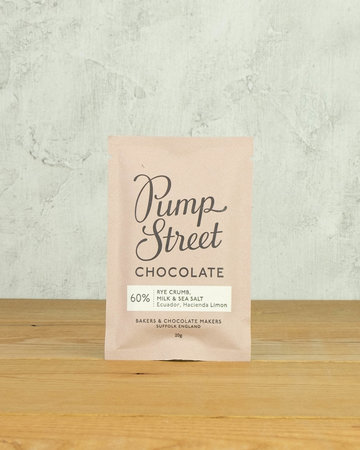 Pump Street Chocolate Rye Crumb, Milk & Sea Salt 60% Mini