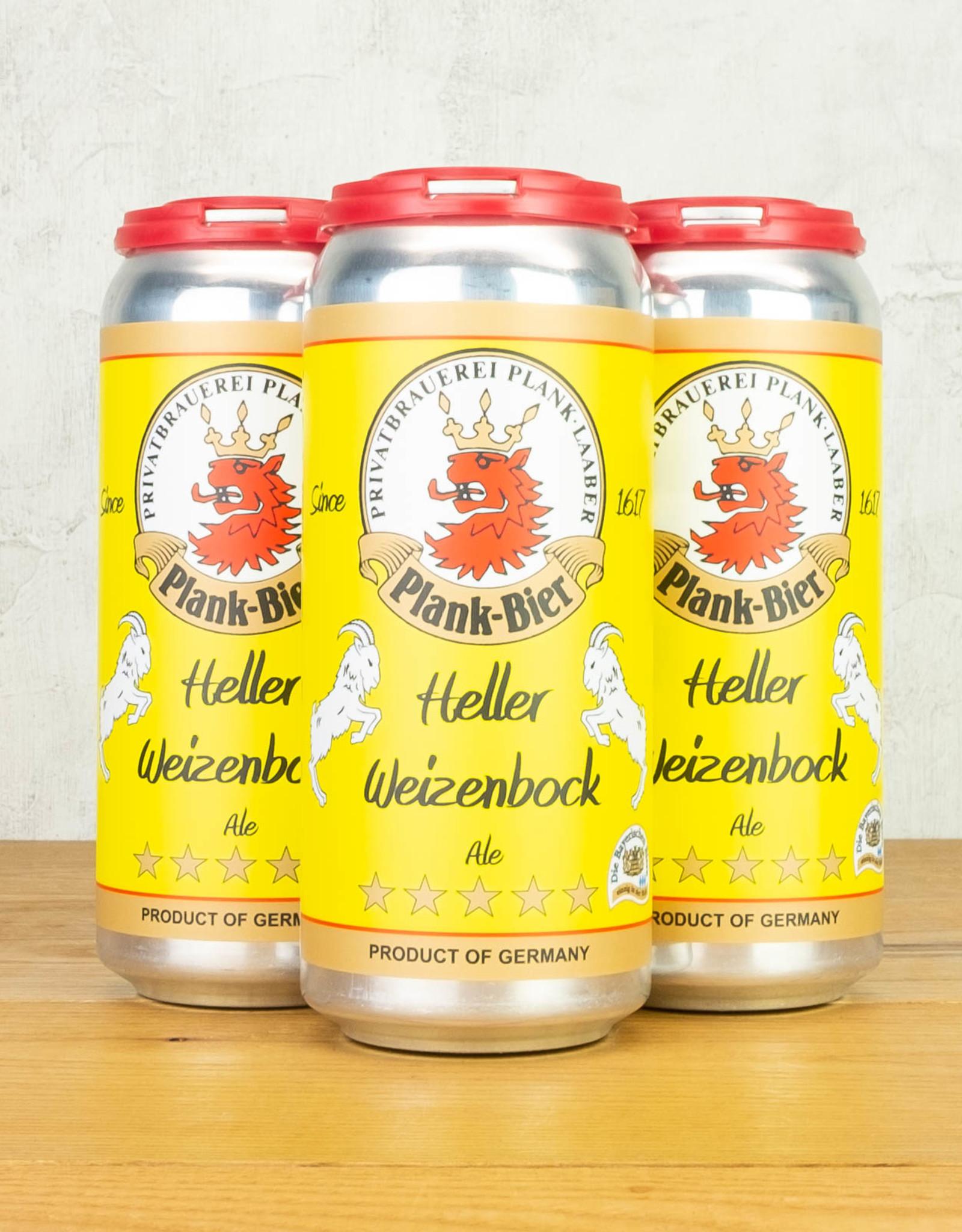Plank-Bier Heller Weizenbock Ale 4pk