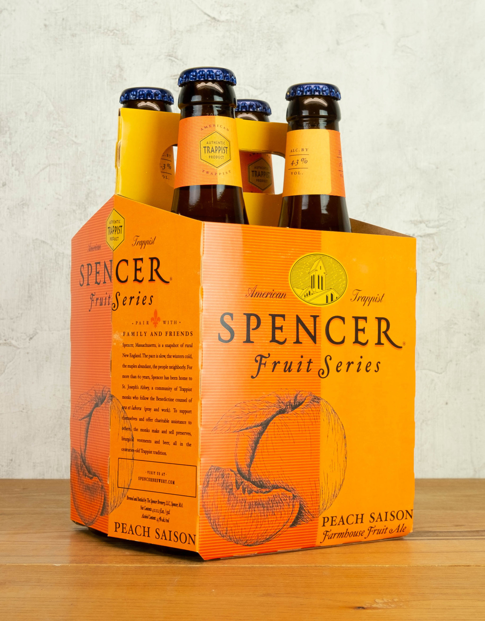 Spencer Trappist Peach Saison 4pk
