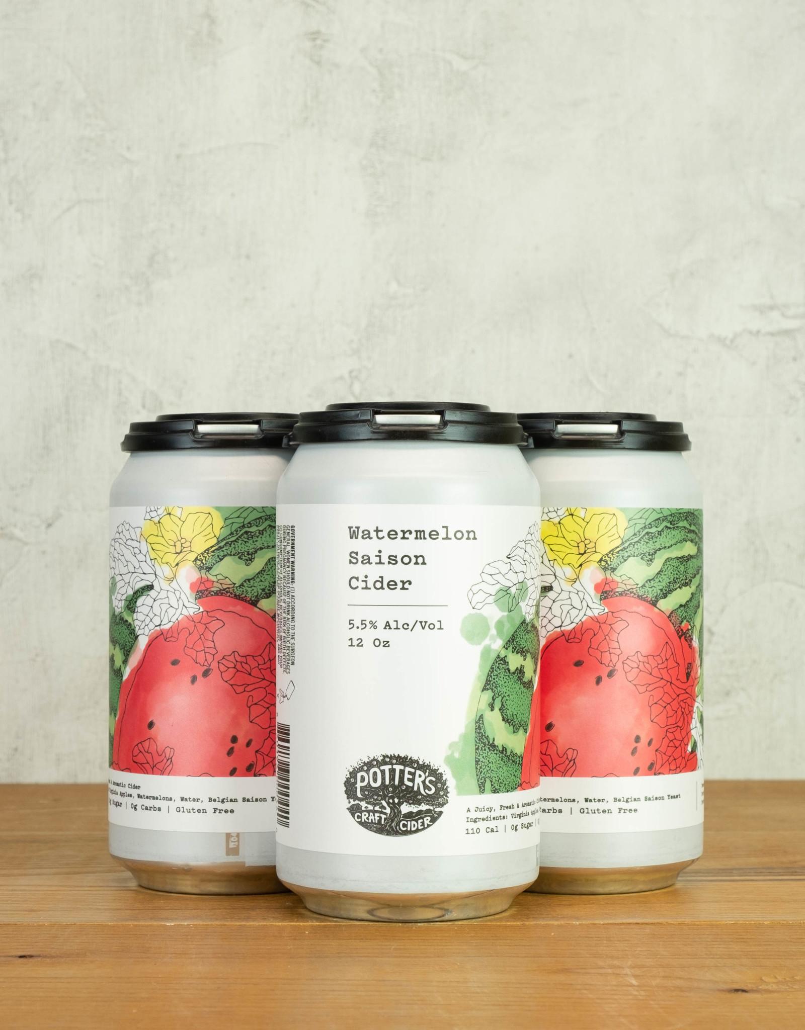 Potter's Watermelon Saison Cider 4pk