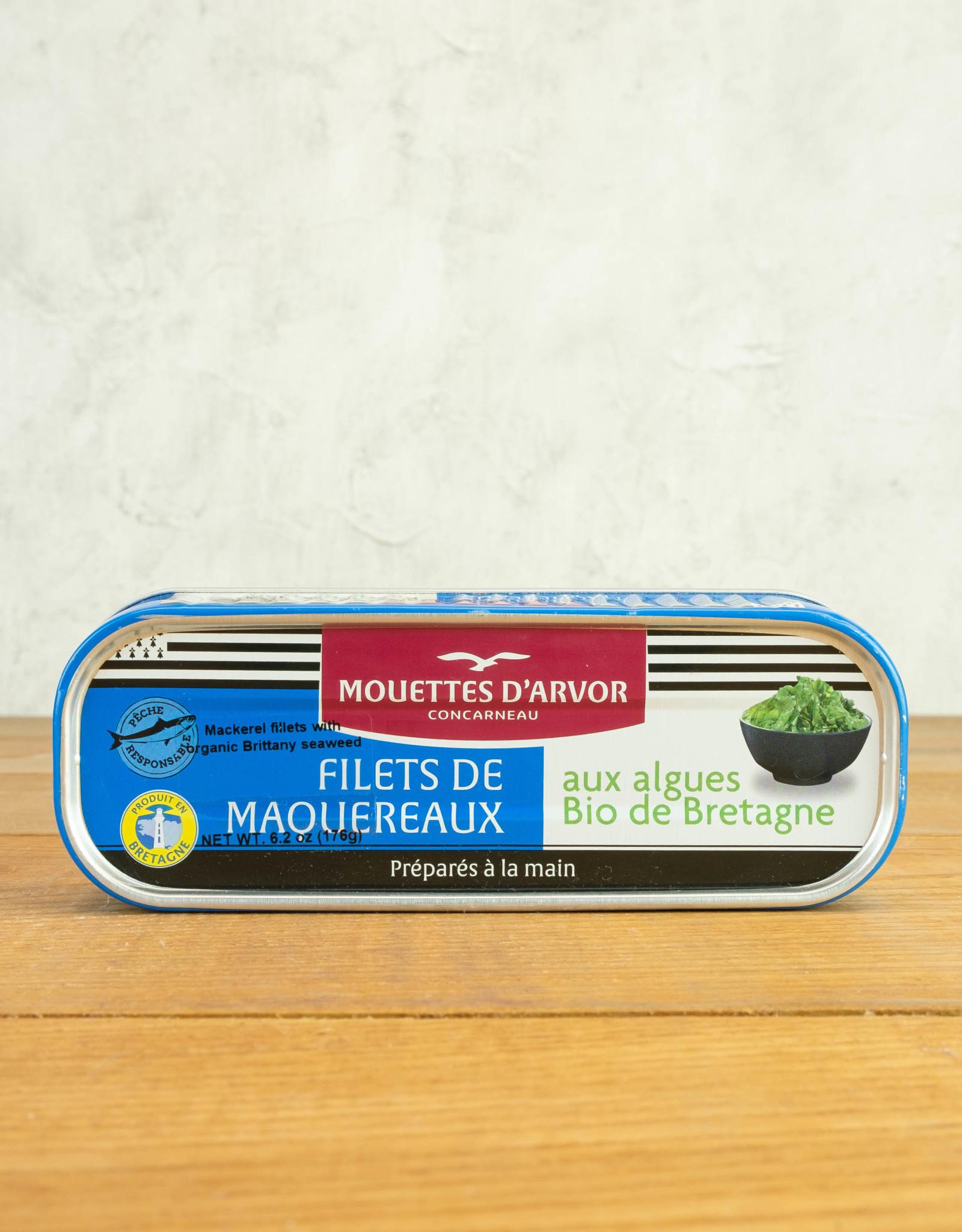 Les Mouettes d'Avor Mackerel w/ Organic Seaweed