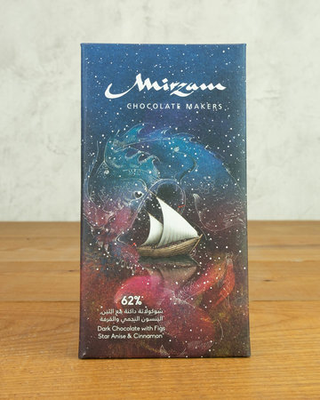 Mirzam Dark Chocolate w/ Figs, Star Anise & Cinnamon 62%