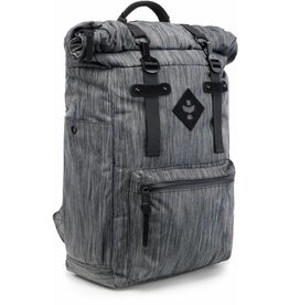 Revelry - Drifter - Rolltop Backpack, Striped Black