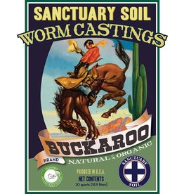 Sanctuary Soil Sanctuary Buckaroo Worm Castings - 30lb