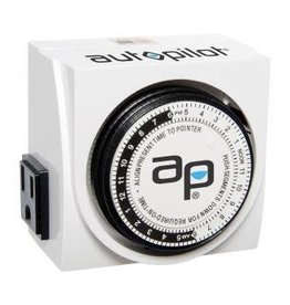 AutoPilot Autopilot Dual-Outlet Analog Grounded Timer, 1725W, 15A, 15-Minute On/Off, 24 Hour