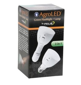 AgroLED AgroLED 4 Watt Green Flashlight/Lamp AC/DC Rechargeable (20/Cs)