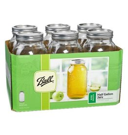 Ball Jar Ball Jars Wide Mouth Half Gallon (Single)