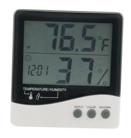 Growers Edge Grower's Edge Large Display Thermometer / Hygrometer (20/Cs)