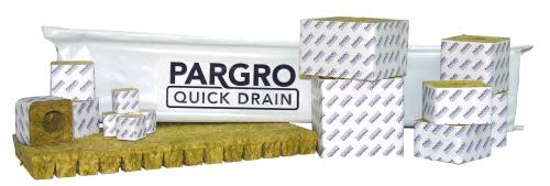 Grodan Pargro QD 4 in x 4 in Block (72) w/ Hole (12/Cs)