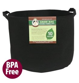 Gro Pro Premium Round Fabric Pot w/ Handles 15 Gallon - Black (48/Cs)