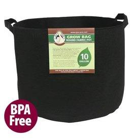 Gro Pro Premium Round Fabric Pot w/ Handles 7 Gallon - Black (84/Cs)