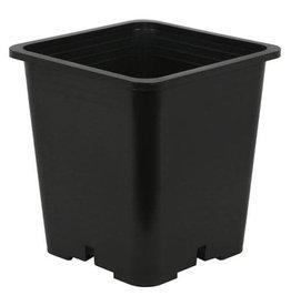 Gro Pro Premium Black Square Pot 8 in x 8 in 7.5 in (100/Cs)