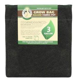 Gro Pro Square Fabric Pot 3 Gallon (50/Cs)