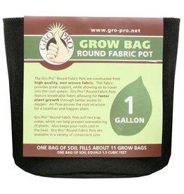 Gro Pro Premium Round Fabric Pot 1 Gallon (160/Cs)