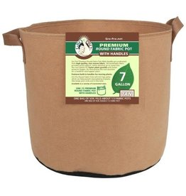 Gro Pro Premium Round Fabric Pot w/ Handles 7 Gallon - Tan (84/Cs)