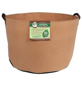 Gro Pro Premium Round Fabric Pot w/ Handles 30 Gallon - Tan (30/Cs)