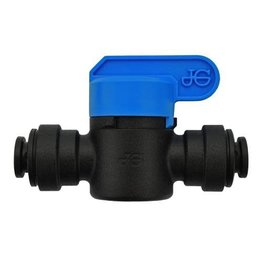 Ideal H2O JG Quick Connect Fitting - Inline Shut Off Valve - 1/4 in - Black (10/Bag)