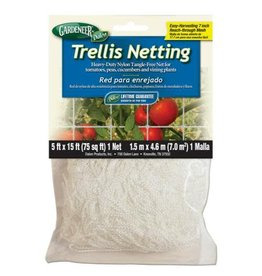 Gardeneer Trellis Netting 5 ft x 15 ft w/ 7 in Holes (12/Cs)