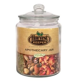 Harvest Keeper Glass Storage Apothecary Jar w/ Sealed Lid 1.5 Gallon (4/Cs)