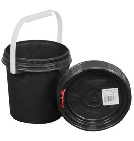 Harvest Keeper Spin Lock 0.6 Gal Black Bucket w/ Lid
