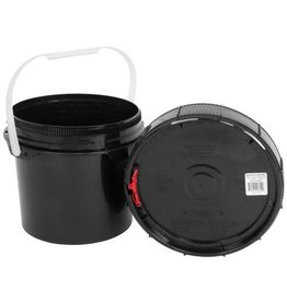 Harvest Keeper Spin Lock 2.5 Gal Black Bucket w/ Lid