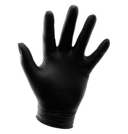 Growers Edge Grower's Edge Black Powder Free Diamond Textured Nitrile Gloves 6 mil - Small (100/Box)