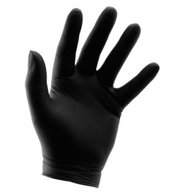 Growers Edge Grower's Edge Black Powder Free Nitrile Gloves 6 mil - Small (100/Box)