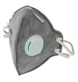 Growers Edge Grower's Edge Clean Room Vertical Fold-Flat Active Carbon Respirator Mask w/ Valve (10/Cs)