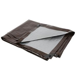 Growers Edge Grower's Edge Heavy Duty Brown / Silver Tarp 10 ft x 10 ft