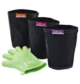 MagicalButter 4 Pack Combo (25 Micron Filter Bag-73 Micron Filter Bag-220 Micron Filter Bag and LoveGlove)