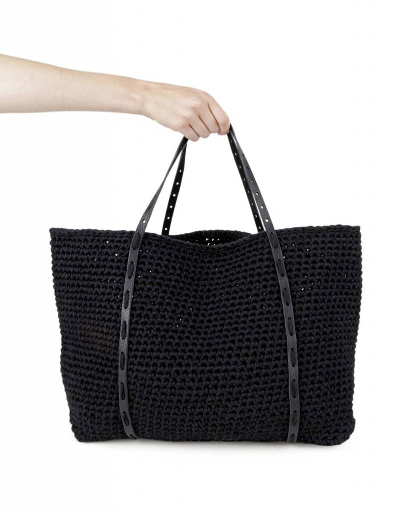 Carrie On Tote Kit Black / Black Leather