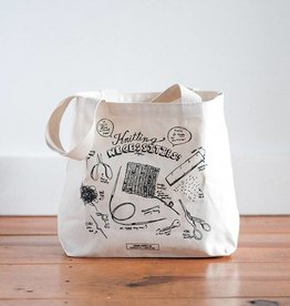 Fringe Supply Co. Knitting Necessities Tote Bag from Fringe Supply Co.