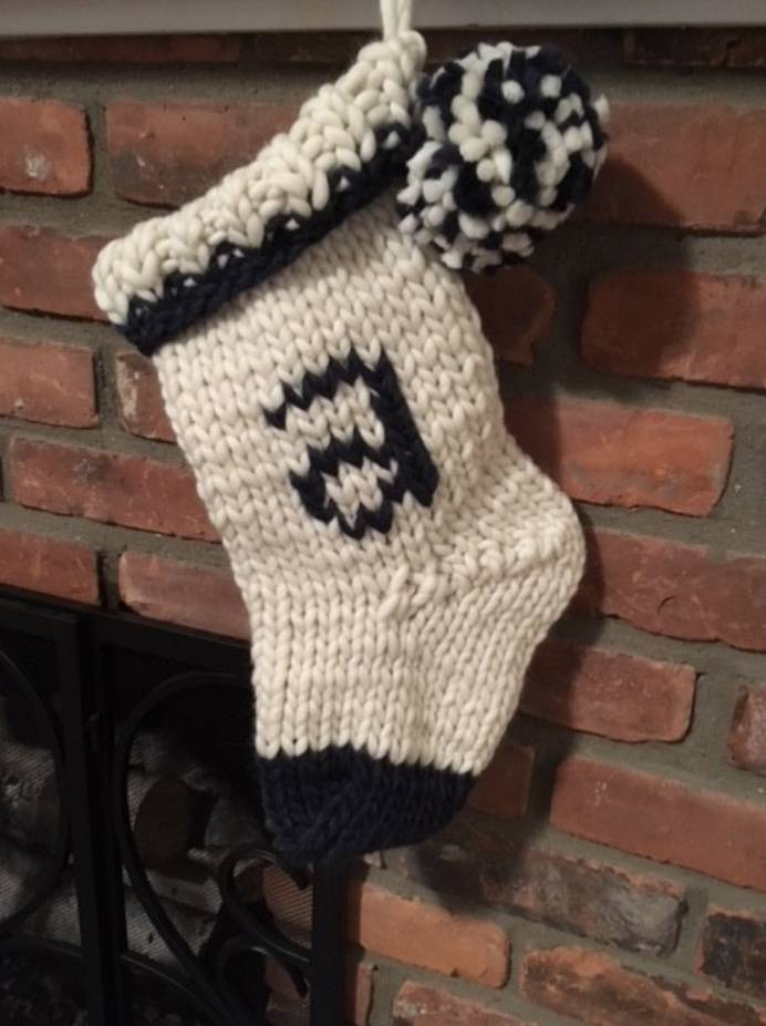 Woolly&Co. Woolly&Co. Modern Monogram Stocking Pattern