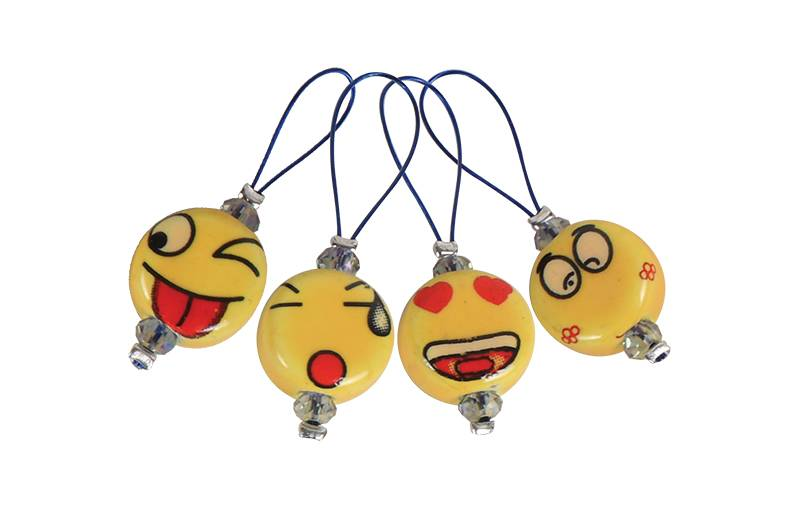 Zooni Stitch Markers SMILEYS