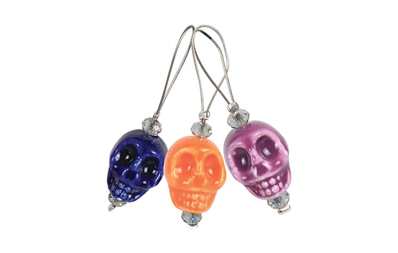 Knitters Pride Zooni Stitch Markers Skull Candy