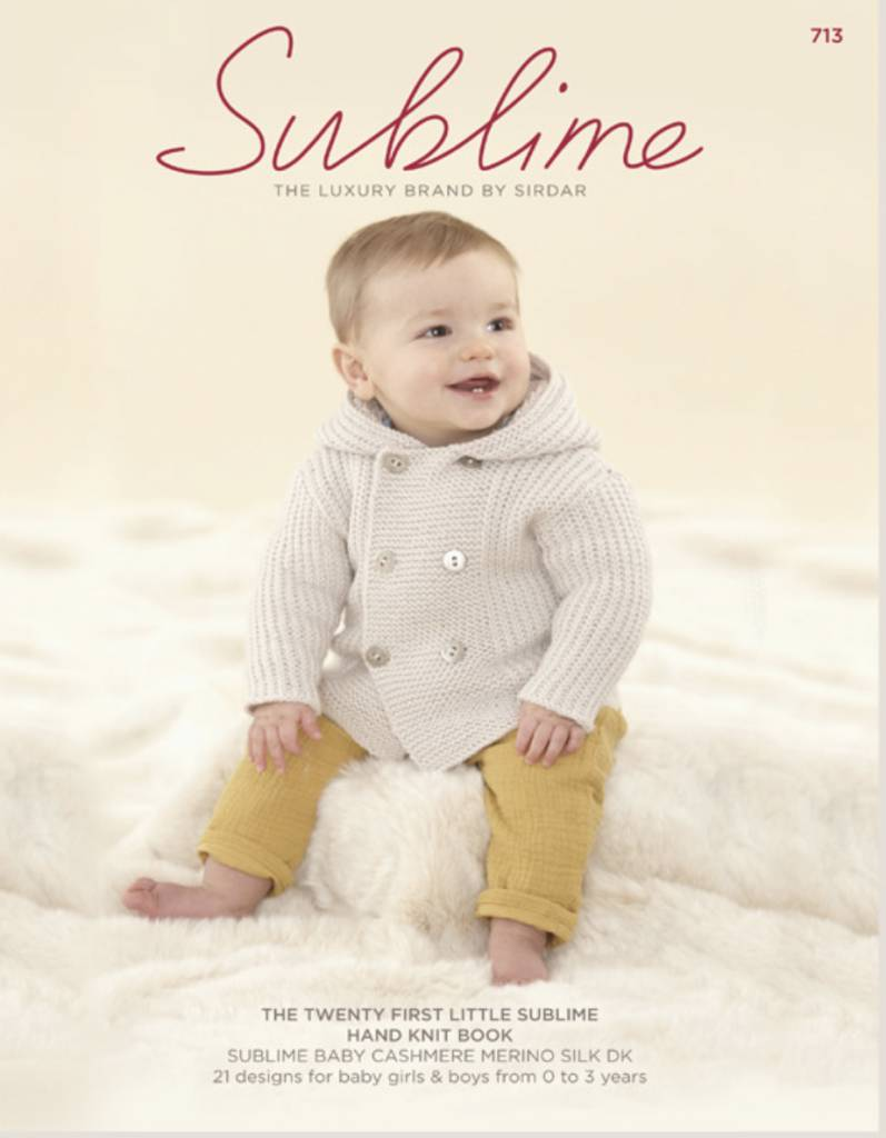 Sublime Pattern Book #713 Baby Cashmere Merino Silk DK