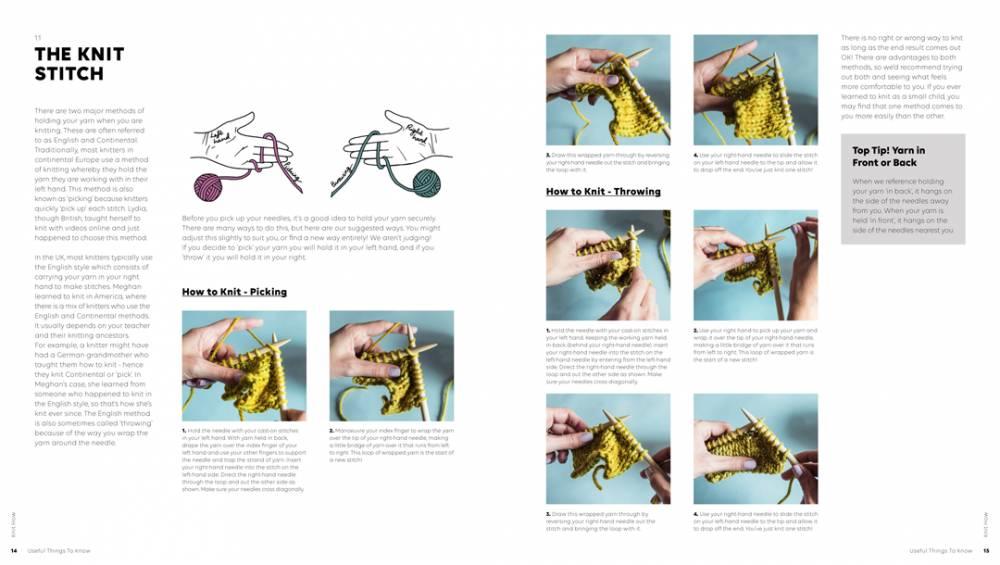Pom Pom Quarterly Pompom Knit  How - A Beginner's Knitting Pattern Book