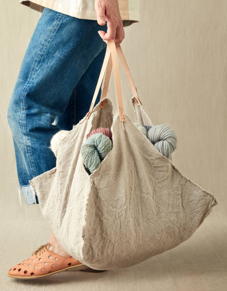 Cocoknits Rustic Linen Four Corner Bag by Cocoknits