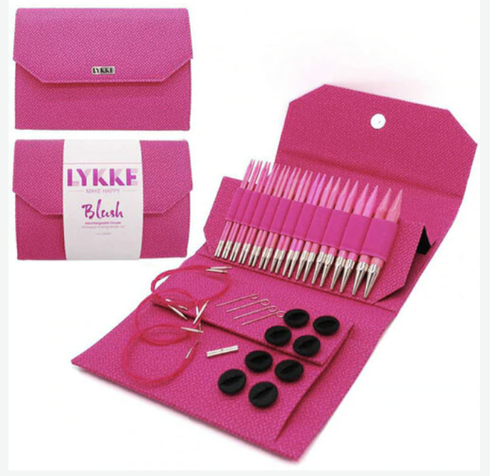 Lykke W&Co. Lykke Driftwood Long Needles Set/Pink
