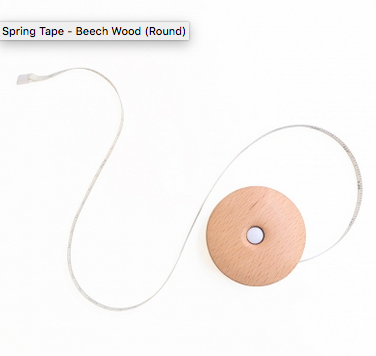 Knitters Pride Spring Tape Beech Wood Round