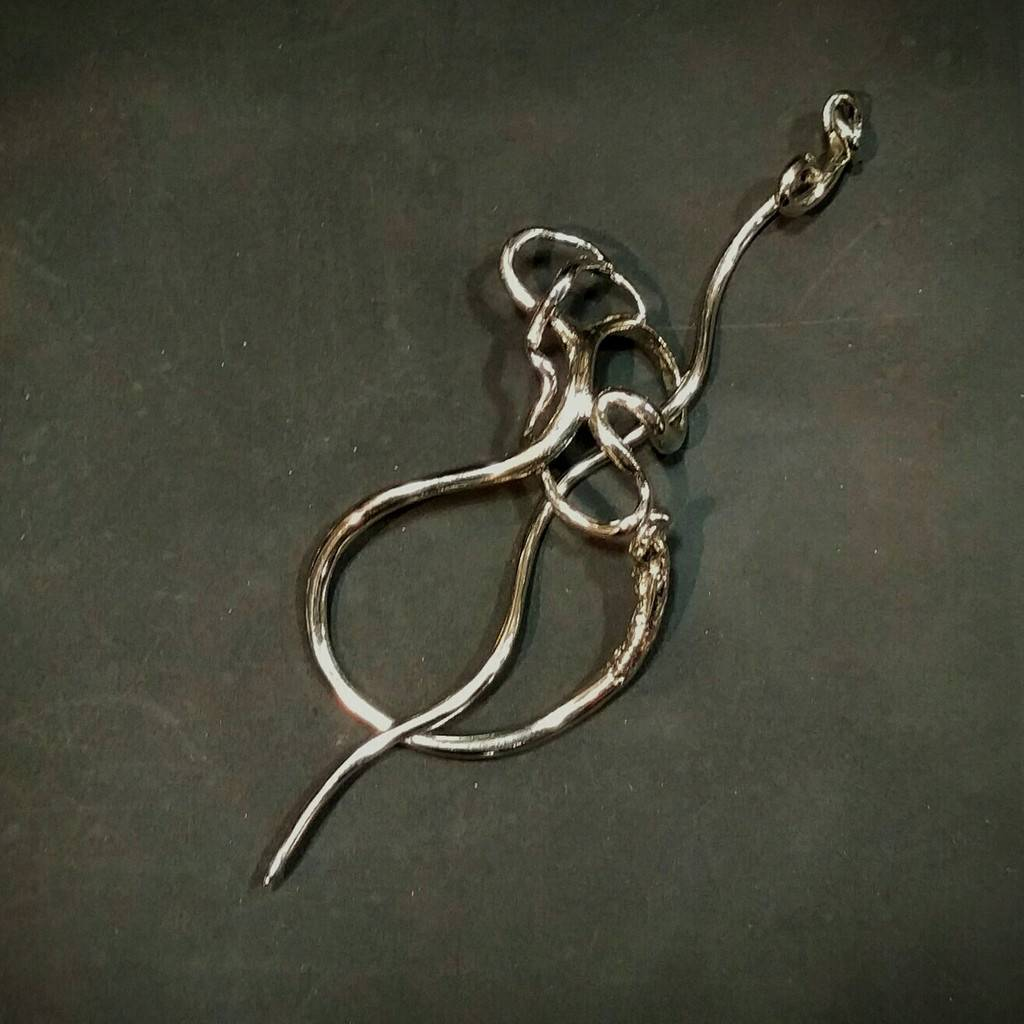 Jul Designs Wild Grape Tendril Shawl Pin
