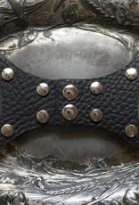 Jul Designs Jul Gate Hinge Leather Snap Closure- Pebble Black