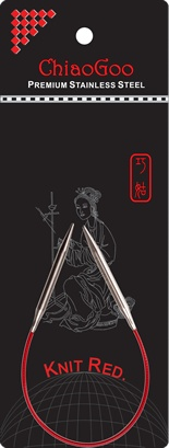 "ChiaoGoo ChiaoGoo SS Red Circular 9"" US 3 Needle"
