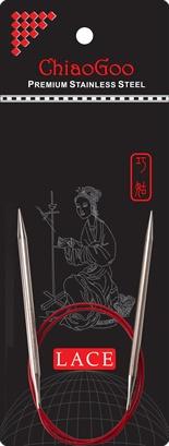 """ChiaoGoo W&Co. ChiaoGoo Lace Circular 16"""" US 8 Needle"""