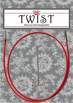 "ChiaoGoo ChiaoGoo Twist Red Cable 22"" - Large"