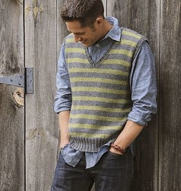 Blue Sky Fibers Blue Sky Fibers Men's Striped Vest Pattern