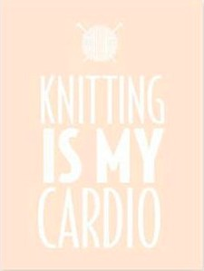 Knitting Is My Cardio Notepad